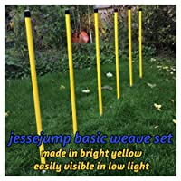 Yellow 6 pole agility weave set for dog agility training. (due to amazons new postage policy we can only post this item to mainland uk (England, Wales, and Scotland only))