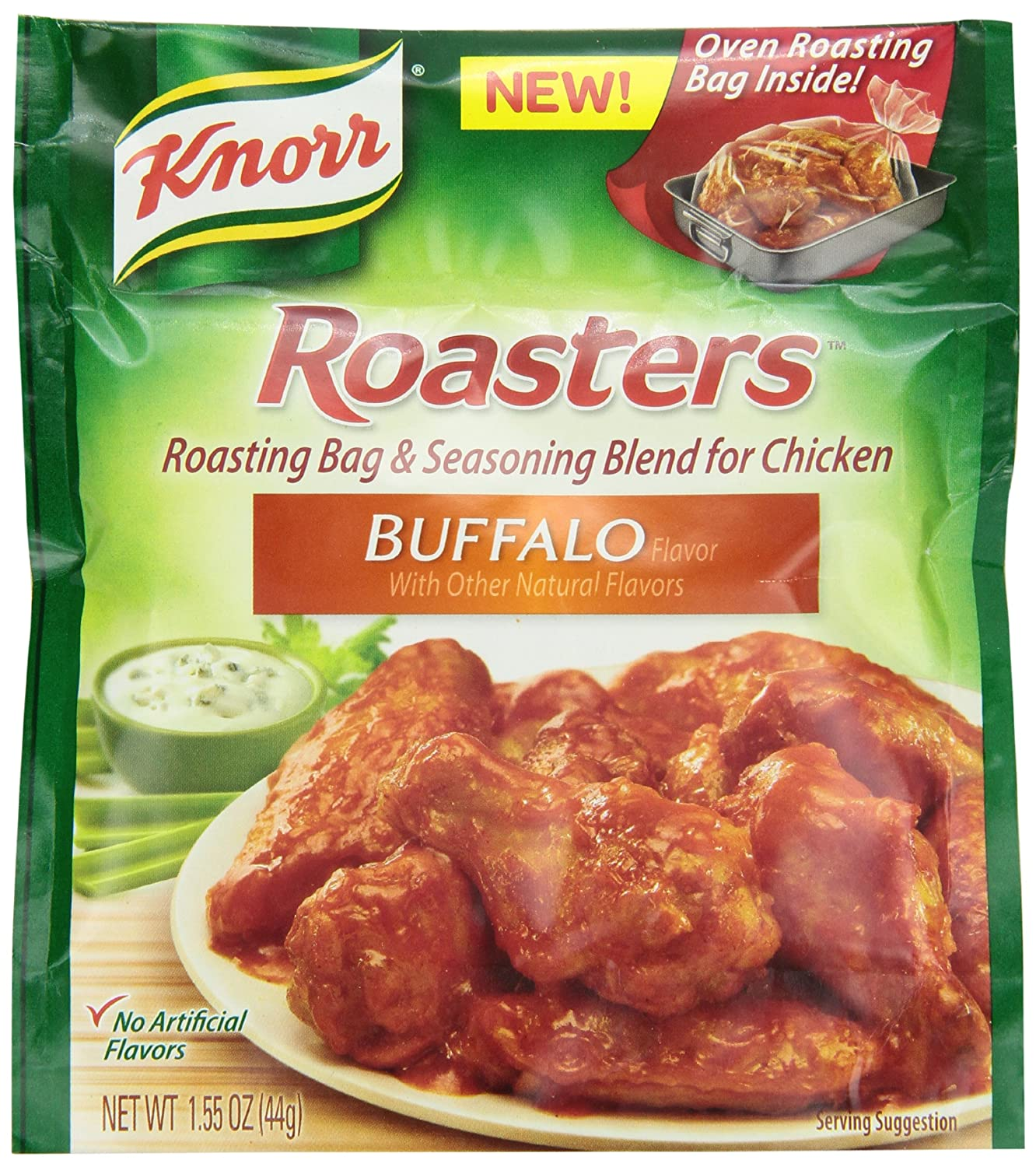 Amazon.com : Knorr Roasters Roasting Bag and Seasoning Blend for Chicken, Buffalo, 1.55 Ounce Packages (Pack of 12) : Meat Seasonings : Grocery & Gourmet ...