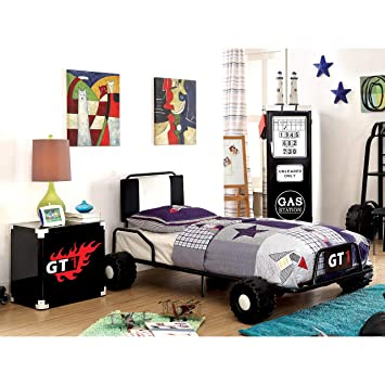 Amazoncom Furniture Of America Jamie Metal 3 Piece Racing Twin
