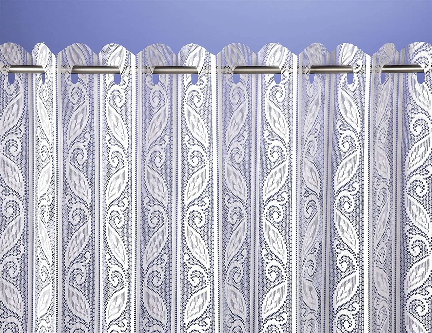 Lace Pleated Vertical Louvre Blind Window Net White 36