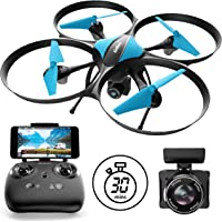 """U49WF"" WiFi FPV Drone with Camera Live Video with Drone Camera + Camera Drone Bonus Battery"