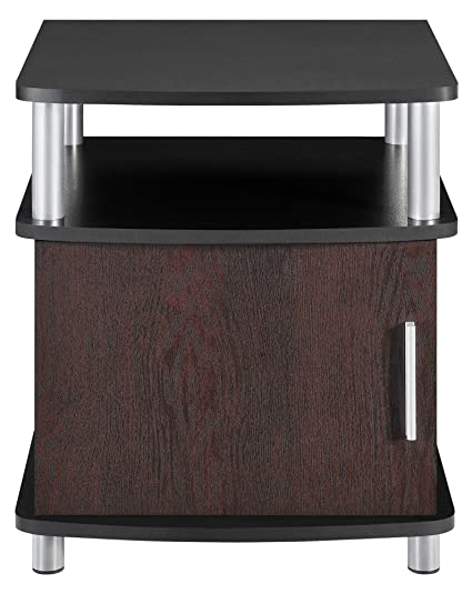 Ameriwood Home Carson End Table With Storage, Cherry/Black