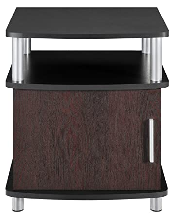 Altra Carson End Table With Storage, Cherry/Black