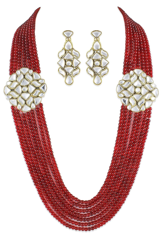 Buy Karatcart Designer Mia Collection Traditional Jewel Set For ...