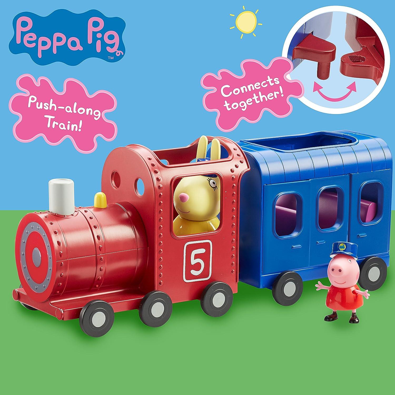 Peppa Pig Locomotora y vagón de Juguete Señora Liebre: Peppa Pig: Amazon.es: Juguetes y juegos