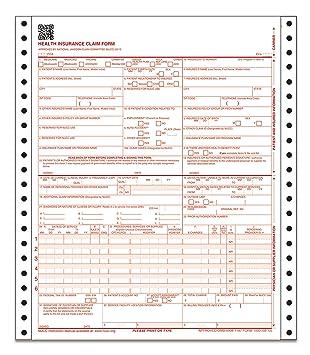 Amazon.com : Adams CMS-1500 Health Insurance Claim Forms, 2-Part ...