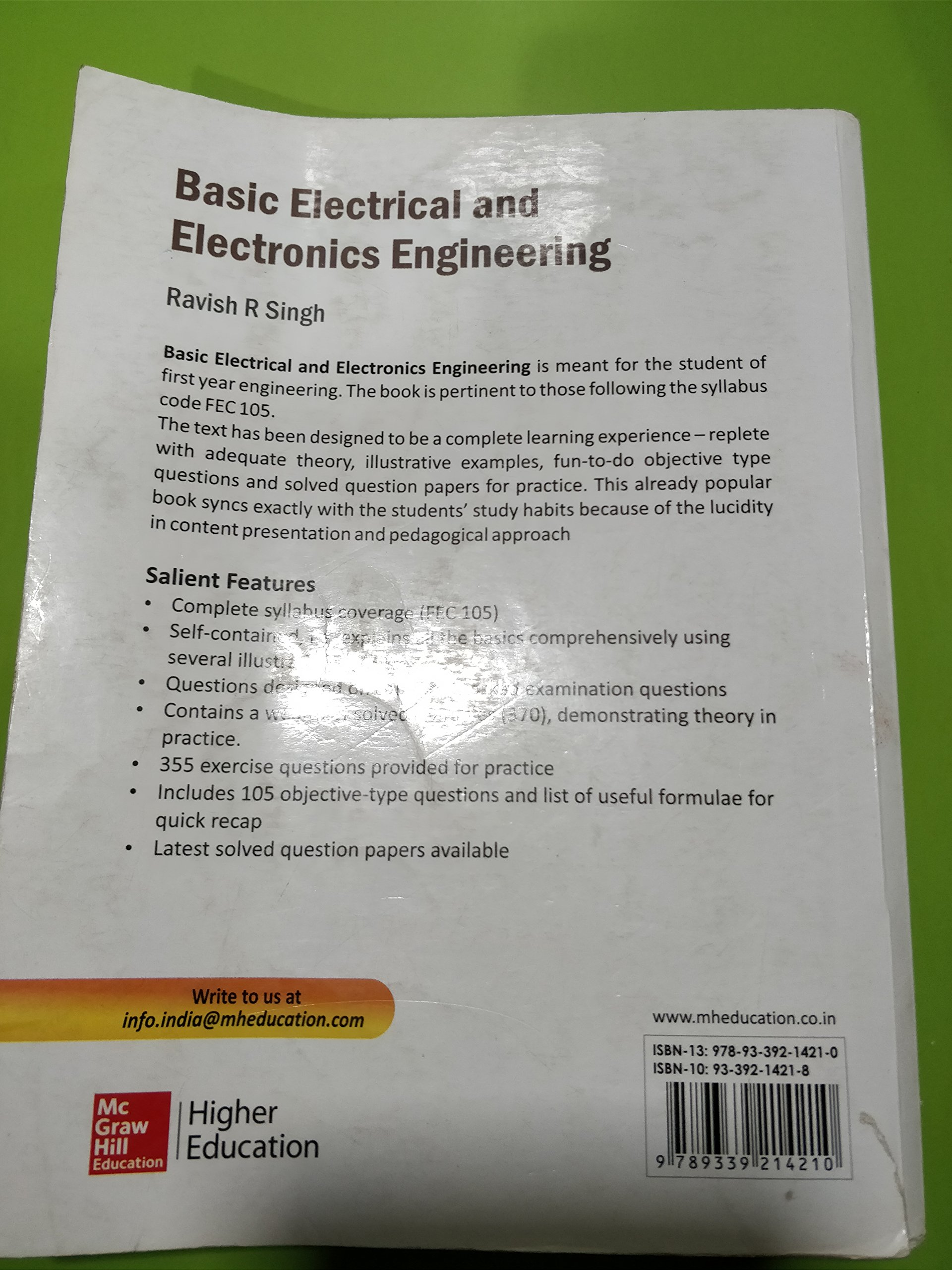 Basic Electrical And Electronics Engineering By Ravish