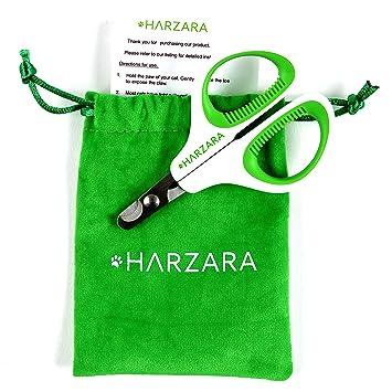 Tijeras profesionales de uñas para mascotas de HarzaraLo mejor para gatos y perros pequeños.Incluye bolsa de almacenamiento y tarjeta de instrucciones ...