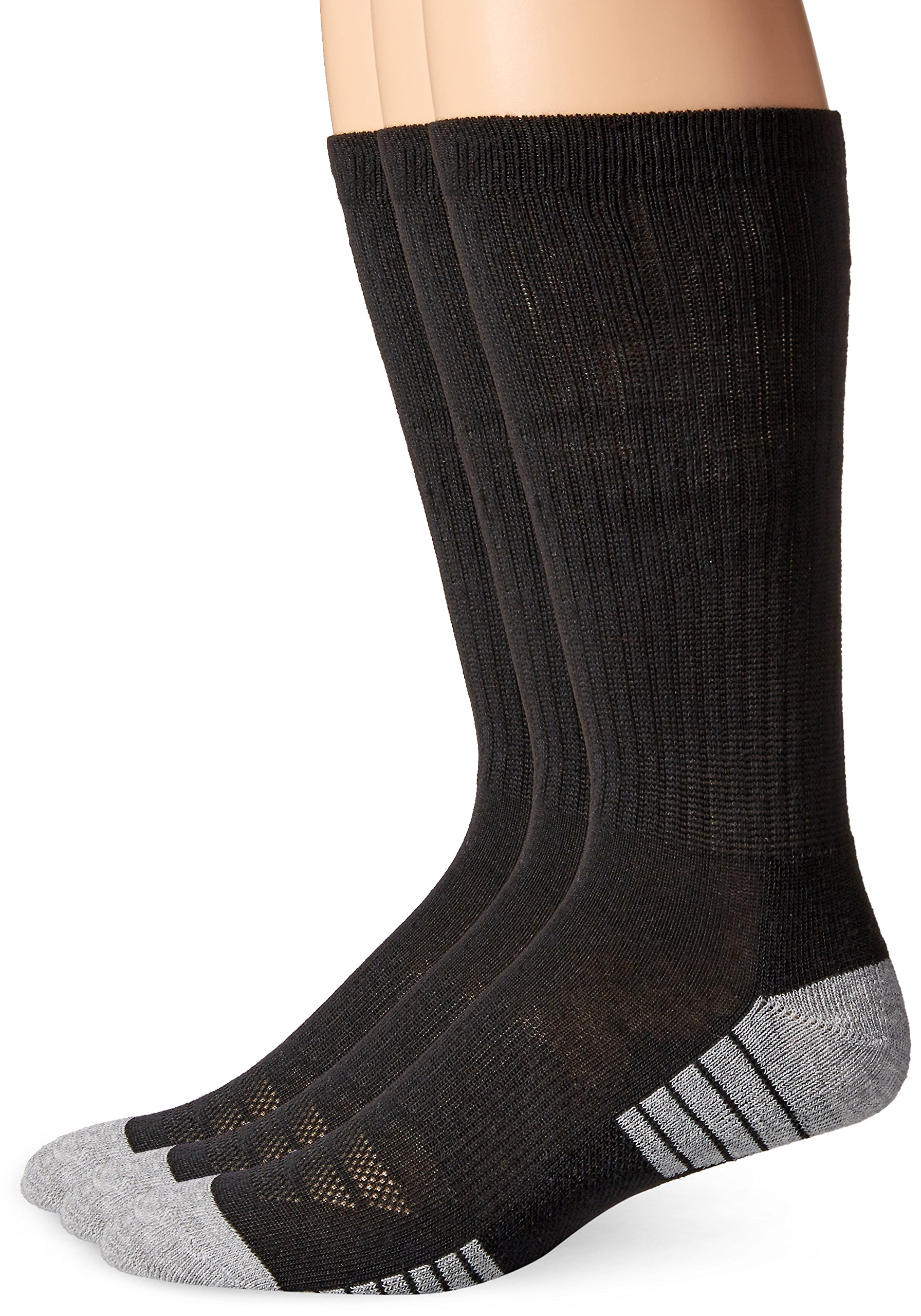 Under Armour Men's Heatgear Tech Crew Socks, Black, X-Large (3 Pair Pack)