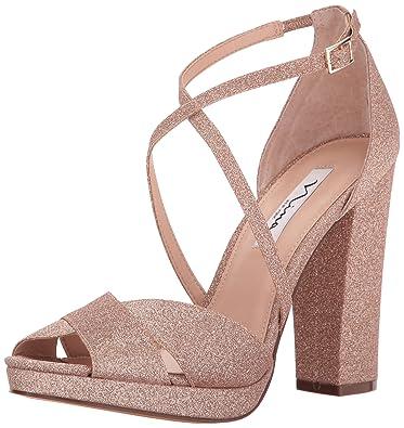 19aec708725 NINA Women s Marylyn Dress Sandal Platino 5 ...