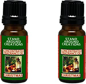 Set of 2 - Concentrated Fragrance Oil - Christmas - Orange spice notes w/pine notes from the Christmas tree. Made w/natural orange, cinnamon, and pine essential oils (.33 fl.oz.)