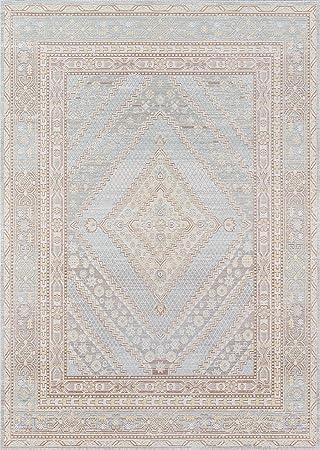 Momeni Isabella Traditional Geometric Flat Weave Area Rug 7 10 X 10 6 Blue Furniture Decor