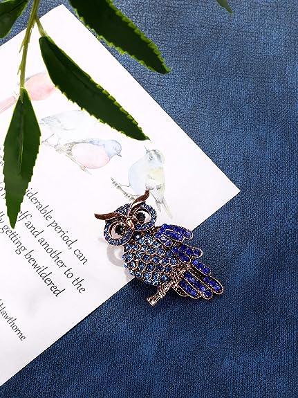 Broche de V/êtements pour Femmes Filles Cadeaux de F/ête Samantha 3 Pieces Forme danimal Cristal Broches Broche de Paon Libellule Hibou Forme danimal Cristal Broches