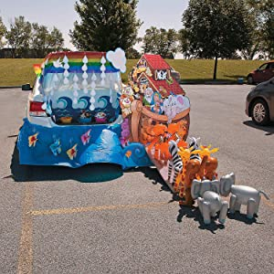 Noah's Ark Trunk Or Treat Kit (34 pieces) Religious Halloween Party Decor