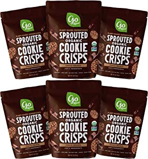 product image for Go Raw Snacks, Sprouted Superfood Cookie Crisps, Choco Crunch (pack of 6 x 3oz bags) — Gluten Free | Vegan | Natural | Organic (00040125_ob)