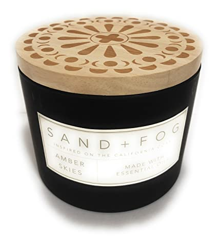Sand And Fog Amber Skies Candle With Essential Oils 12 Oz