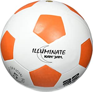 Kan Jam Illuminate Ultra-Bright LED Light-Up Glow Soccer Ball, Size 5