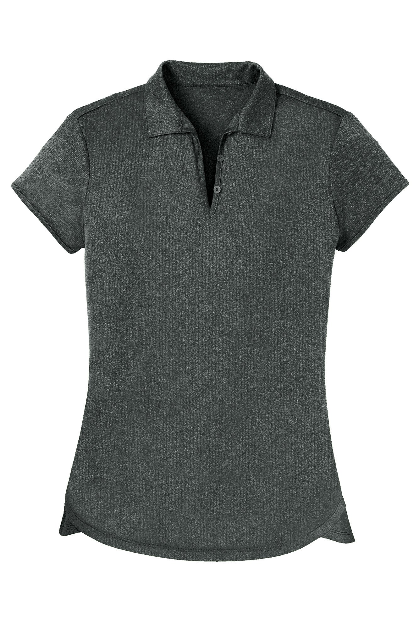 Opna Women's Ladies Moisture Wicking Athletic Golf Polo Shirts Tops & Tees Charcoal by Opna