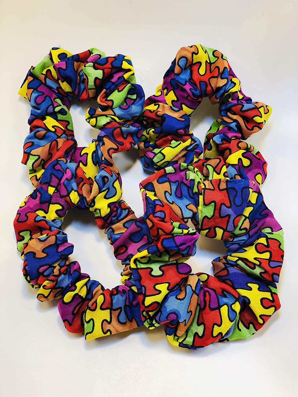 Autism Awareness Scrunchies