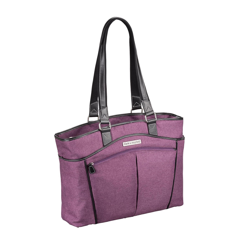 "Amazon.com: Clark & Mayfield Reed Laptop Handbag 17.3"" (Purple): Computers  & Accessories"