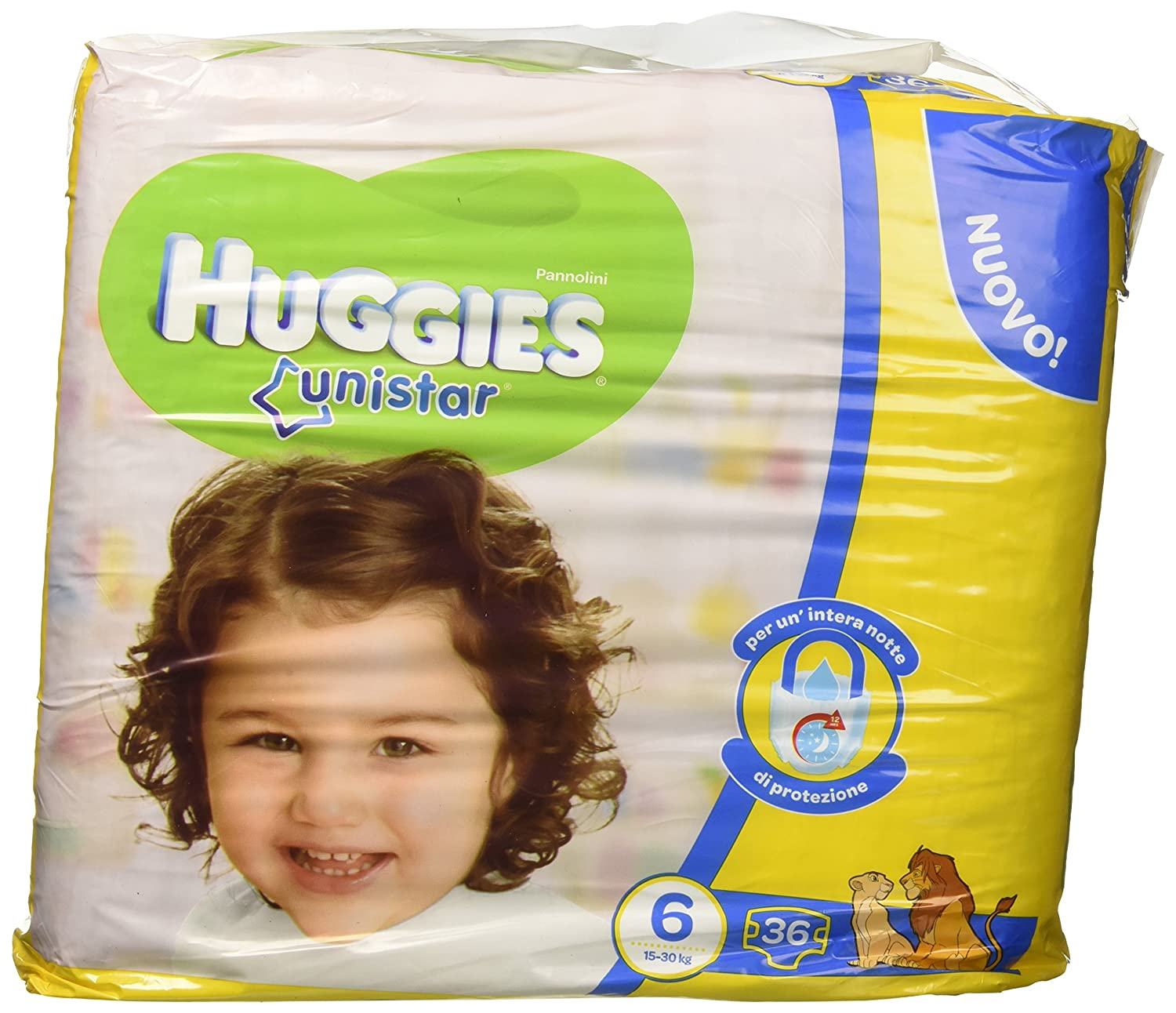 Huggies Unistar Nappies Size 6/ 15//–/30/kg 2/Packs of 36/ 72/Pieces