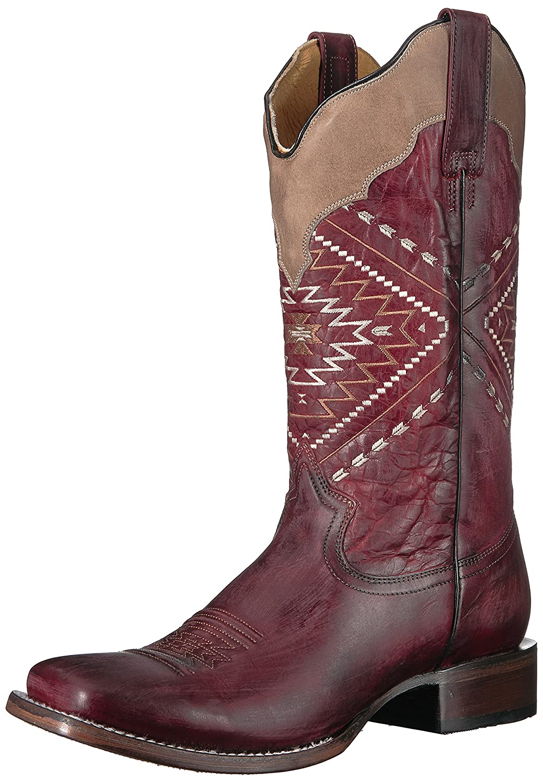 Roper Women's Native Western Boot B075726Y52 6 M US|Red
