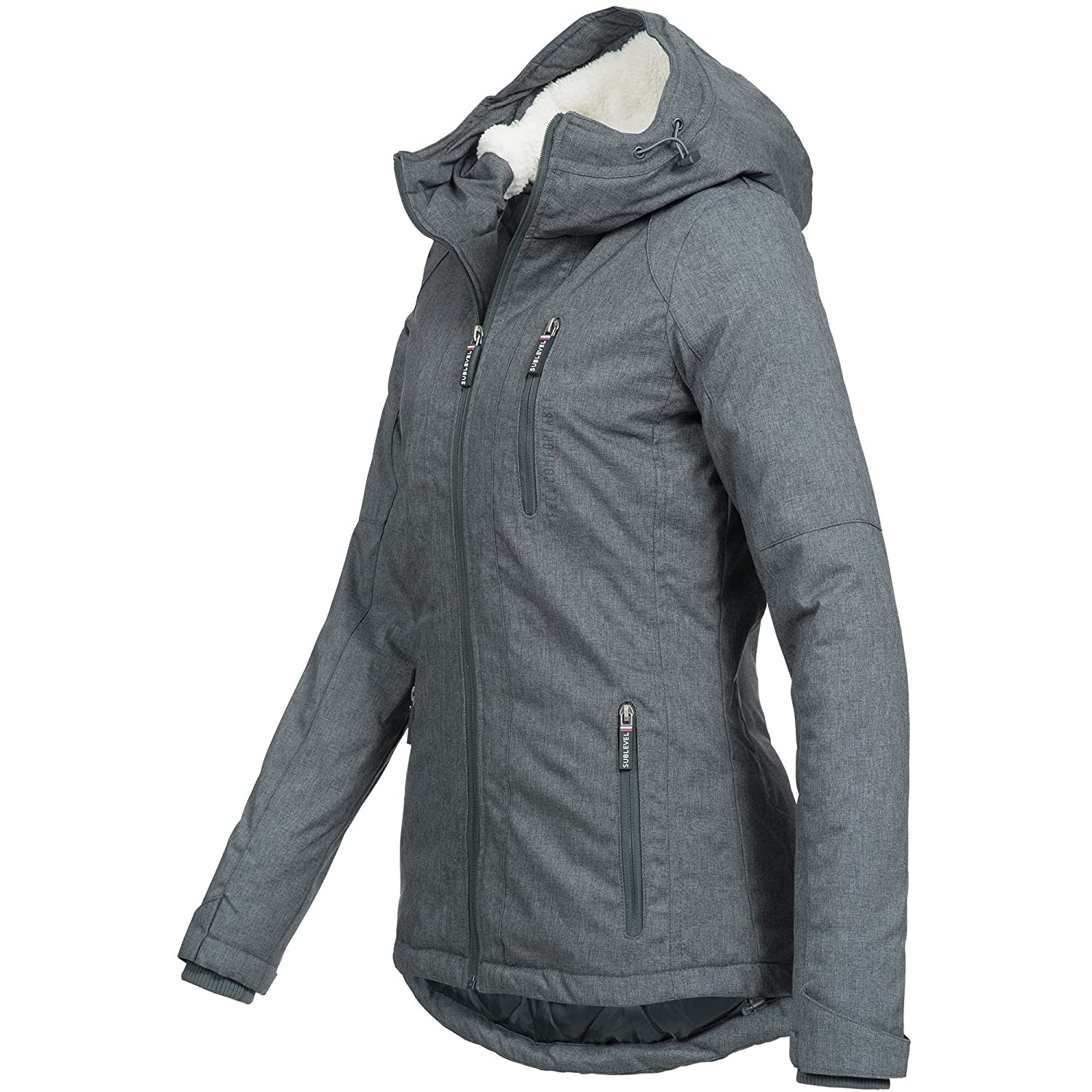 Sublevel Damen Winter Jacke Winterjacke Mantel Parka Outdoor