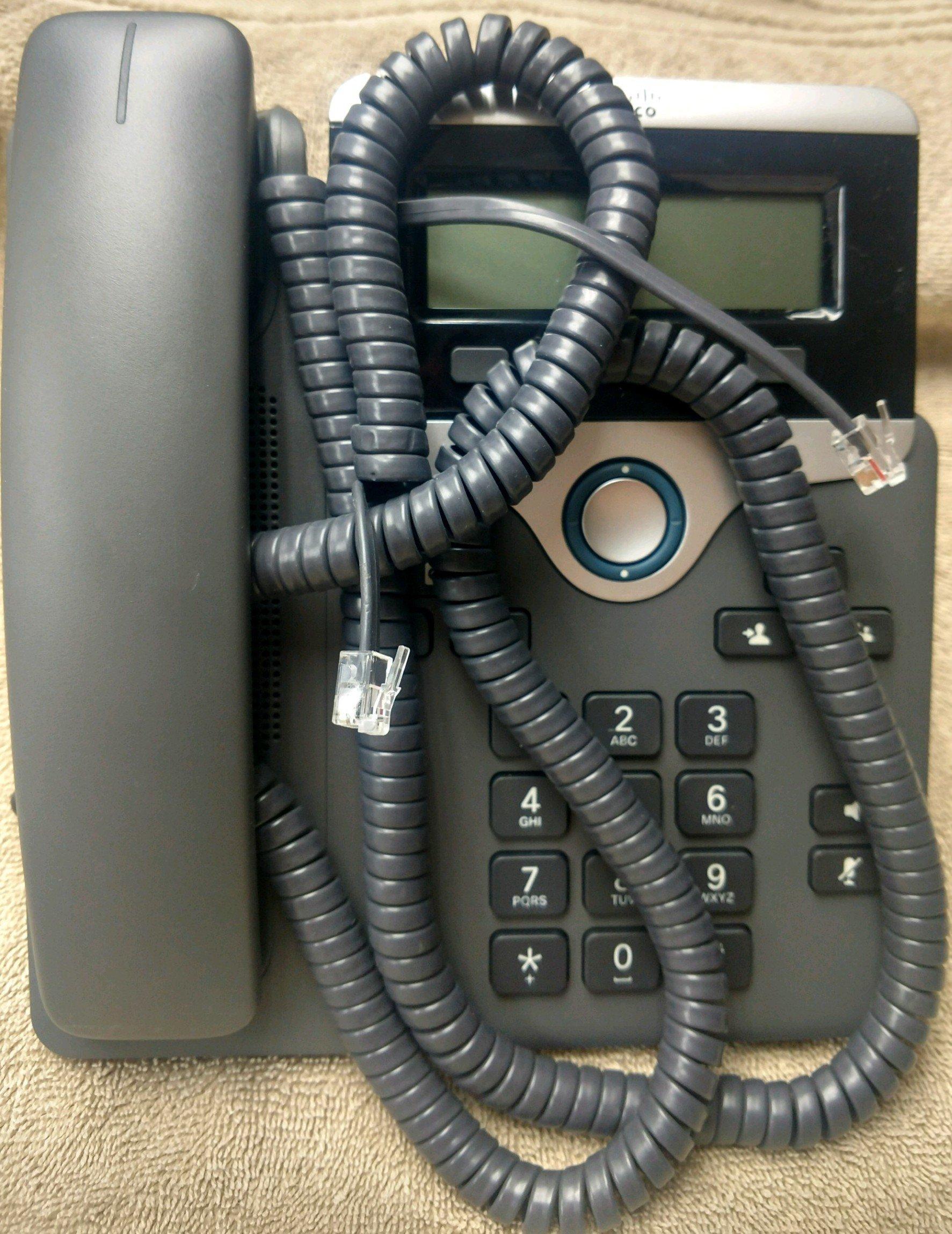 7 Ft Handset Cord Gray Cisco 7900 Series Phone 7945 7975 7971 7970 7965 7962