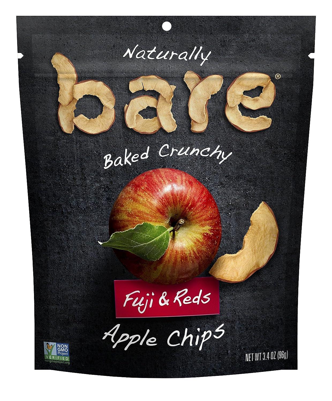 Bare Natural Apple Chips, Fuji & Reds, Gluten Free + Baked, Multi Serve Bag - 3.4 Oz