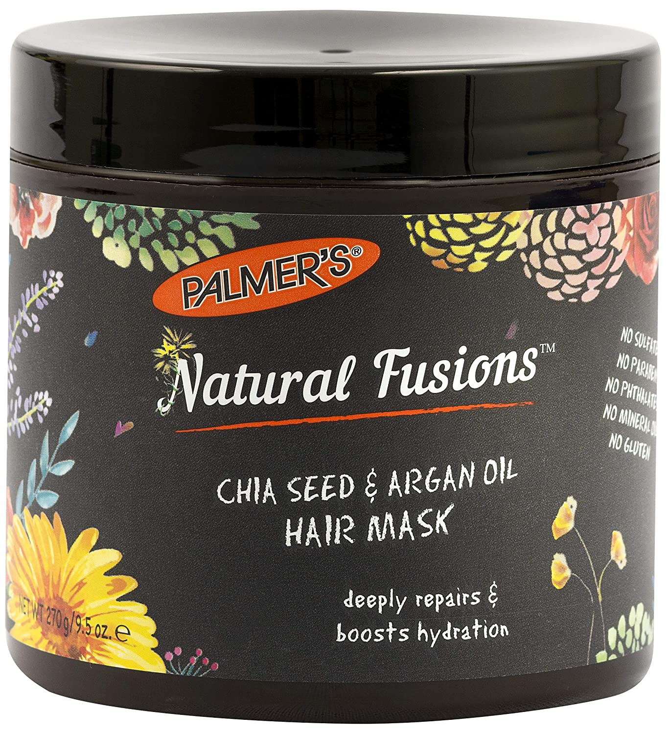 Palmer's Natural Fusions Chia Seed & Argan Oil Hair Mask, for Deep Repair and Hydration | 9.5 Ounces
