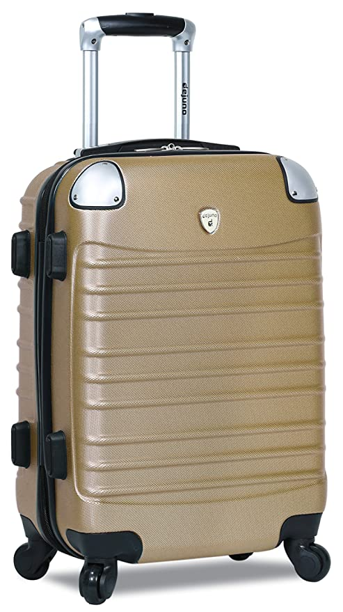 Amazon.com | Dejuno Impact Hardside 3-Piece Spinner Luggage Set-Champagne | Luggage Sets