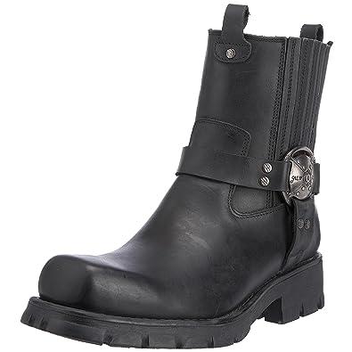 M-7621-S1, Santiags Homme, Noir (Black), 39 EUNew Rock