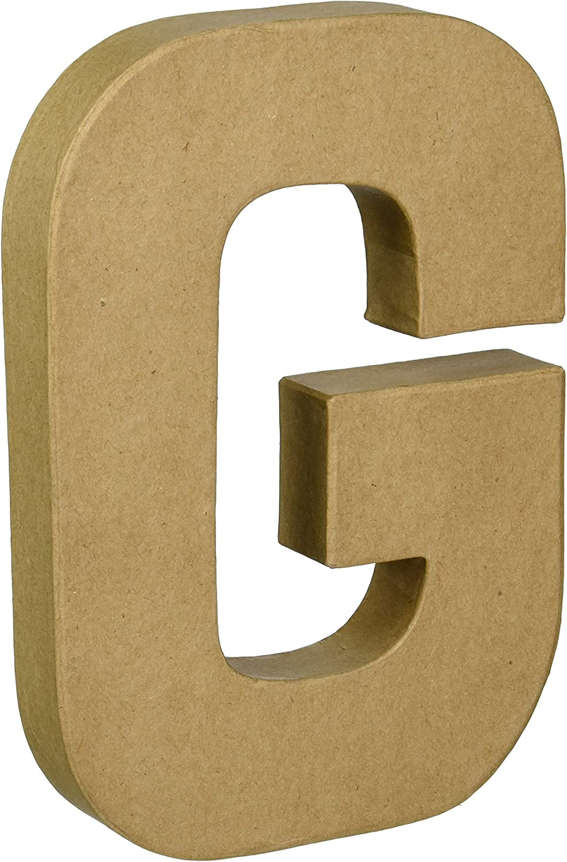 "J Darice Paper-Mache Letter 8/""X5.5/"""