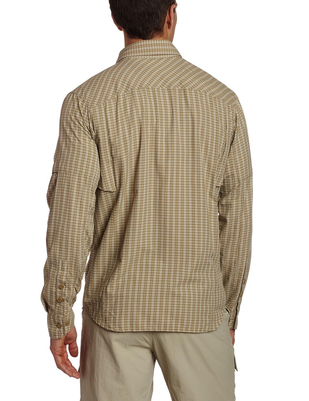 Camicia a maniche maniche maniche lunghe scozzese a cresta argento (XX-Large, Fossil Mini Plaid) c84dff
