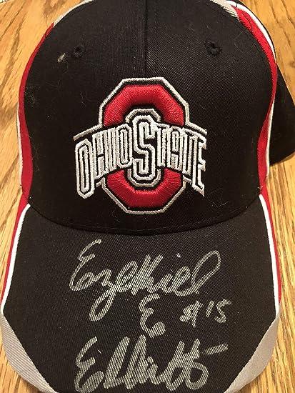 71bcba47 ... best price ezekiel elliott signed autographed ohio state buckeyes hat  coa 96227 5ec7b ...