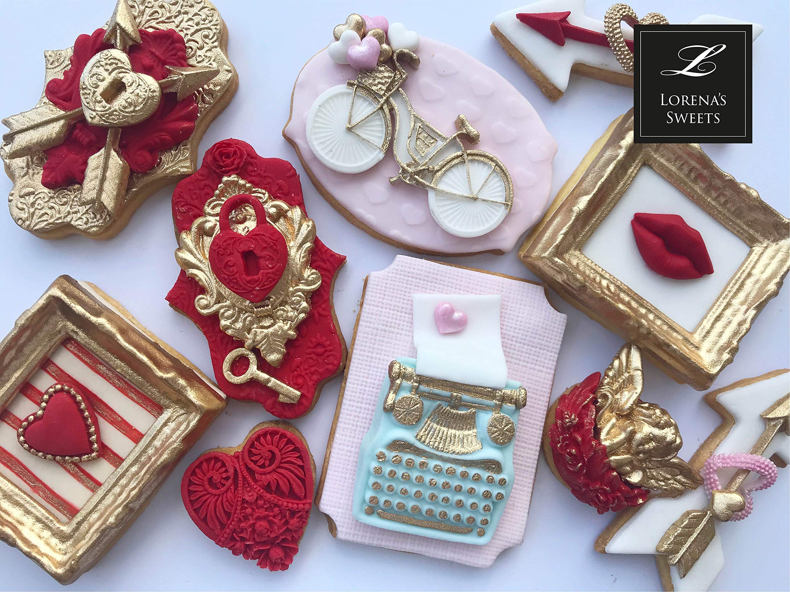 Lorena's Sweets Fondant Cookie kit Assortment Valentine's Pink by Lorena´s Sweets (Image #3)