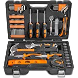 VonHaus 100 Piece Home Repair Tool Set - General Household Hand Tool Kit with Ratchet Wrench, Screwdriver Set, Socket Kit, Pliers in a Molded Storage Case - Ideal for Home Repair & Maintenance
