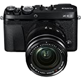 Fujifilm X-E3 with 18-55mm F2.8-4 R LM OIS Lens Kit - 24.3 Megapixel Mirrorless Camera, Black