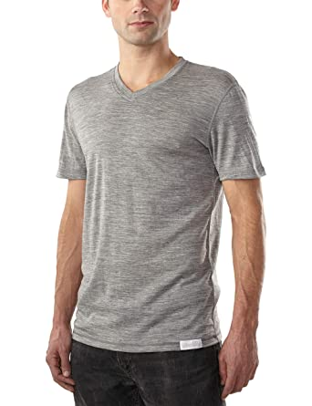 aebae9a52e0c Woolly Clothing Men's Merino Wool V-Neck Tee Shirt - Everyday Weight ...