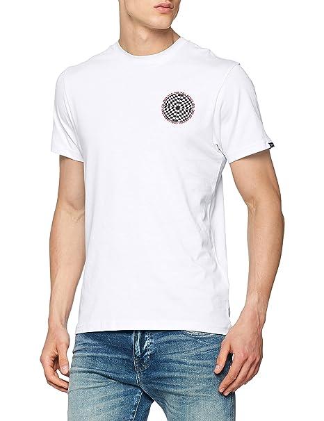3c73d81f60 Vans Checkered Short Sleeve Tee (White) Men s Off The Wall Skate Shirt
