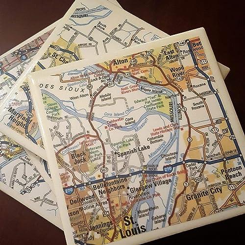 Amazon.com: Saint Louis Area Road Map Casters: Handmade