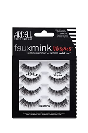 9d1632dbbf4 Ardell Faux Mink Demi Wispies False Lashes, Pack of 4: Amazon.co.uk: Beauty