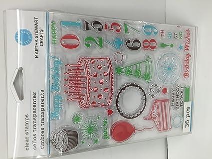 Amazon Martha Stewart Clear Stamp Set Happy Birthday Arts