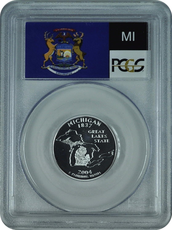 2004 S Michigan Mint Silver Proof Statehood Washington Quarter from US Proof Set