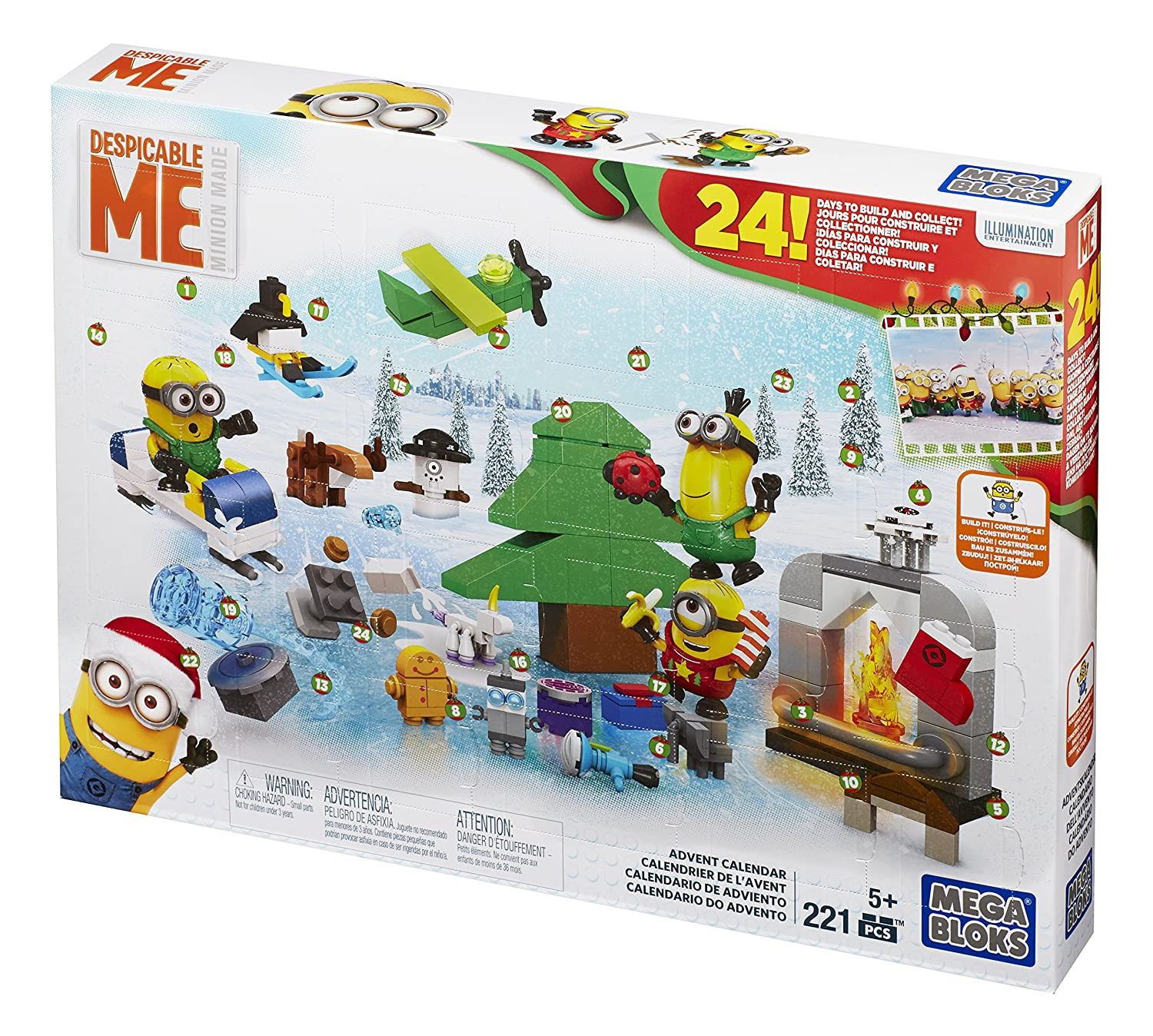 Mattel Mega Bloks Despicable Me Minions Advent Calendar CPC57