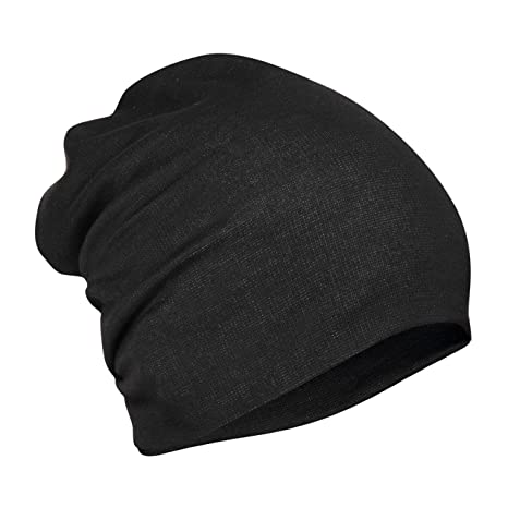 bf3ac0d62ef Buy FabSeasons Unisex Cotton Slouchy Beanie and Skull Cap (Black ...