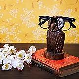 Wooden Owl Eyeglass Spectacle Holder Handmade Stand for Office Desk