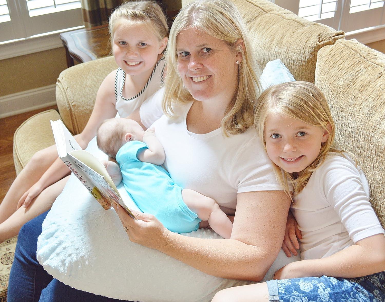 Amazon.com: La 4 en 1 uno Z Azul Cojín de lactancia W ...