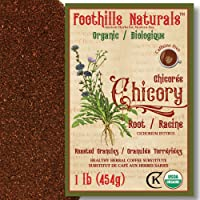 Foothills Naturals Chicory Root Roasted Granules Organic – 1 Pound (454g), Natural Coffee Substitute, Only One…