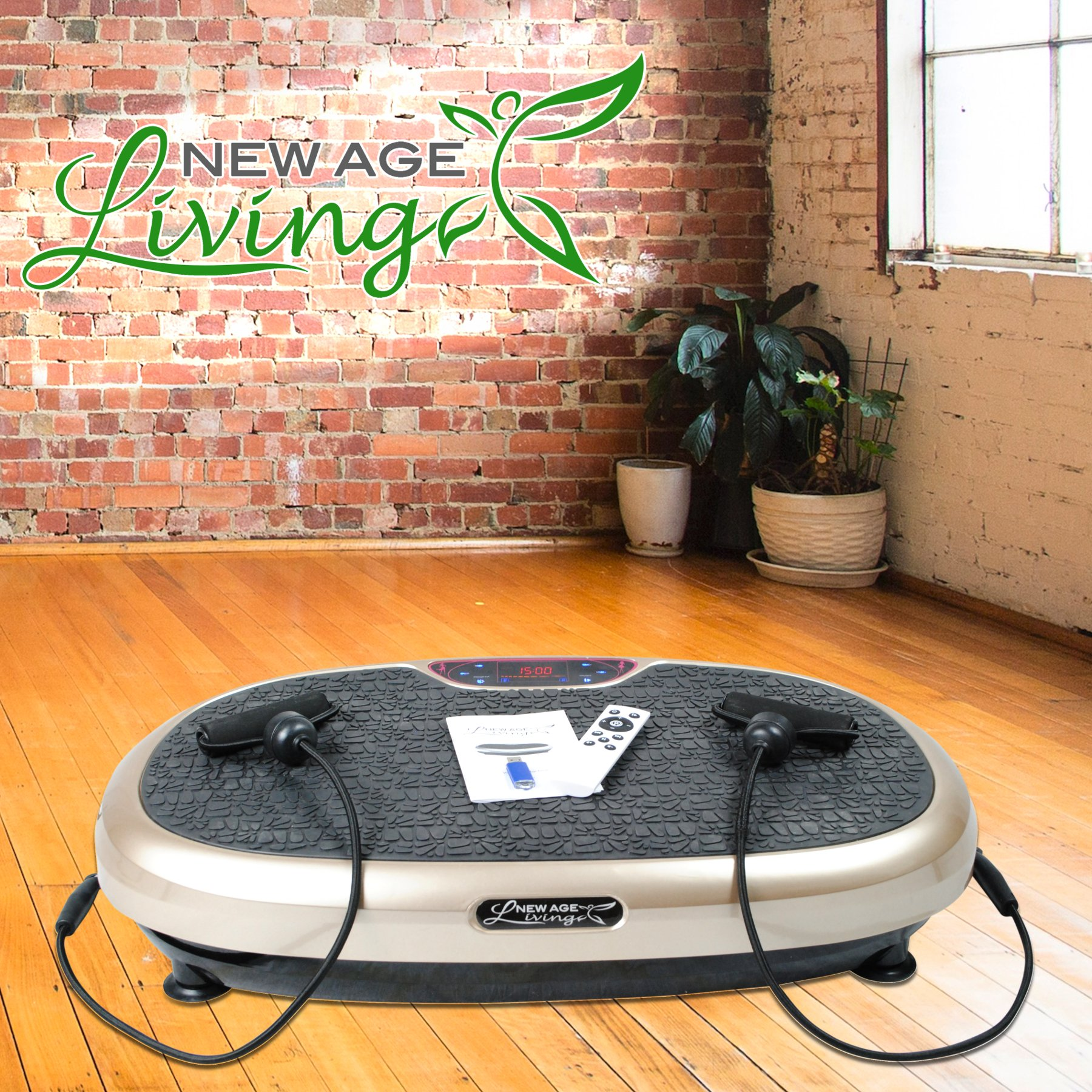 New Age Living Body Vibration Machine | Whole Body Exercise & Fitness For Men & Women | 200W Power To Plate & 120 Intensity Levels by New Age Living (Image #1)
